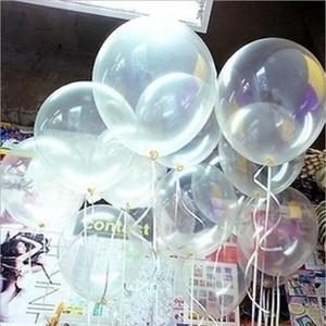 De 12 pulgadas Clear boda transparente cumpleaños Ballons la decoración del partido Suministros de látex Globo de helio regalo del día de San Valentín 100 piezas = 1Bag = 1lot