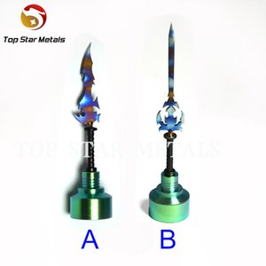 Top Star 2017 Gorra de carburo de titanio colorida caliente Gorra de carburo de titanio GR2 con dabbers muy cool