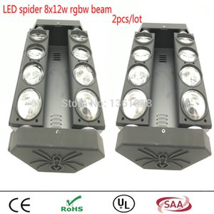 (2pieces / lot) MINI LED 8x12W Led Spider Light RGBW 12/16 / 40CH DMX Lumières Scènes Dj Led Spider Moving Head Faisceau Lumière