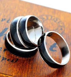 컬러 링 여성 약혼 반지 구리 손가락 와이드 4mm 6mm 혼합 크기 패션 무드 링 합금 문 쥬얼리 색상 변경