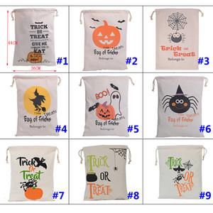 Weihnachtsgeschenke Taschen Kürbis Einkaufstüten Festival Geschenke Tasche Halloween Canvas Bag Aufbewahrungsbeutel 36 * 44 CM WX-B10
