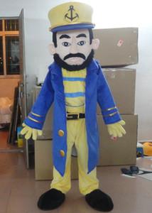 SX0727 frete grátis 100% feedback positivo marinheiros capitão mascote traje para adulto para usar