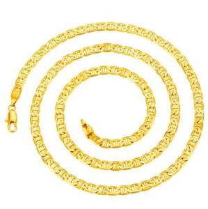 Collana in oro 18KGP con placcatura in oro placcato in Italia da uomo, in oro placcato, 5mm * 60cm