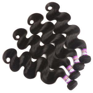 Onda do corpo do cabelo Virgin 9A brasileira 3Bundles brasileiro do cabelo humano Extensão Ali rainha produtos de cabelo Peerless brasileira onda do corpo Weave
