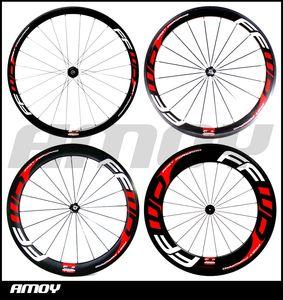 FFWD F4R F5R F6R F9R 페인트 700C 전체 탄소 도로 자전거 바퀴와 무료 배송 탄소 50분의 38 / 60 / 88mm 클린 처 바퀴