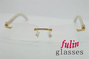 Marca desinger de calidad superior blanco Buffalo Horn Lentes de lujo para gafas de lectura masculinas T8100903 gafas de lectura Tamaño: 54-18-140mm