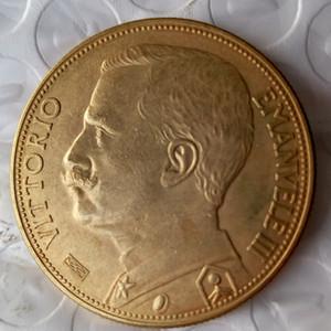 Italien 100 Lire (Fälschungen sind möglich) 1926 münzen Gold Copy Coin dekoration zubehör günstigen neupreis