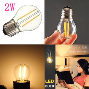 Ampoules LED 15 Watt remplacement G45 2W dimmable 110V / 220V LED Ampoule E12 / E14 / E17 / E26 / E27 / B15 / B22 Socket blanc doux Globe Ampoule 2700K