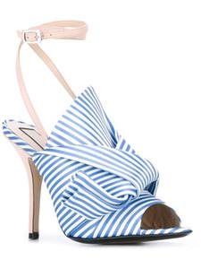 2017 Date D'été Sandalia Mode satin Crossover Sandal Mules grand papillon Noeud mince Sandales À Talons Hauts Femmes Chaussures De Mariage Femme