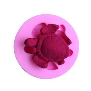 DIY Meeresschildkröte 3D Silikon Fondantform Kuchen Dekoration Werkzeug Schokolade Pudding Kuchenform Backenwerkzeuge Pastry Soap Formen
