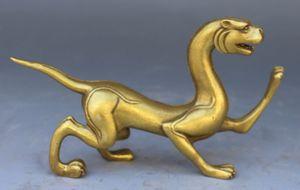 Elaborar animais de bronze feitos à mão chinesas Feng Shui Lucky - Kirin sculpture