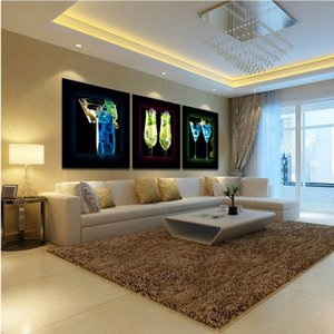 Framed 3 Panel Pure Handcraft Modern Abstract Art Oil Painting cocktail,Home Wall Decor on High Quality Canvas in Multi sizes