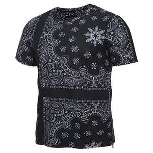 3D футболки мода молния футболки Мужчины/Женщины футболки 3d печати Пейсли цветы тис летние рубашки топы футболка