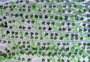 250 سنتيمتر الحرير الاصطناعي محاكاة الزاحف تسلق فاينز الأخضر أوراق اللبلاب الروطان للمنزل سياج ديكور بار مطعم الزفاف الديكور