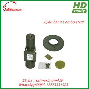 Free shipping C KU Band Combo LNBF - KU PLL 50KHz Stability