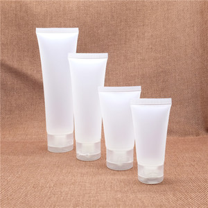 Frosted Plastic Cosmetic Cream Bottle Empty Facial Cleanser Container Squeeze Soft Tubes Hotel Supplies Envío Gratis