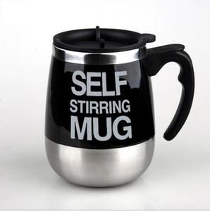 450ml en acier inoxydable automatique tasses auto-agitation électrique tasse café mélange tasse à boire 7 couleurs choisir