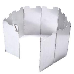 Ветровой Щит Прочный 9 Пластины Складной Открытый Кемпинг Приготовления Пищи Плита Газовая Плита Ветрозащитный Экран Лобовое Стекло Кемпинговое Оборудование +B