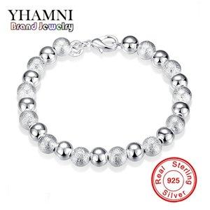 YHAMNI новый шарм браслеты для женщин мода 100% 925 стерлингового Silve Европейский бисер женщины браслеты ювелирные изделия SPCH084