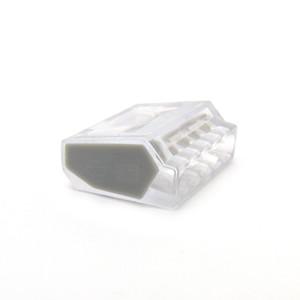 (50 шт./лот) быстрый провод разъем 4-контактный кабель клеммный разъем PC-255 PC255-CL PC255X-CL прозрачный