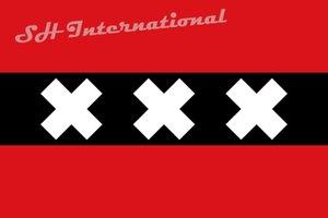 Holland the Netherlands Amsterdam City Flag 3ft x 5ft Polyester Banner Flying 150* 90cm Custom flag outdoor