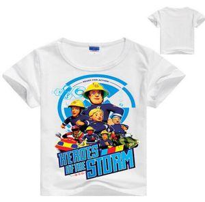 De 2 a 8 años de dibujos animados de Fireman Sam Boys Shorts camiseta nueva de algodón de verano para niños niños niños Tops camisetas camisas ropa de bebé