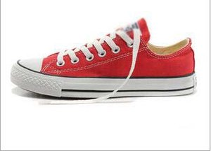 Envío de la gota de la promoción todo el tamaño 35-45 precio de fábrica femininas zapatos de lona hombres y mujeres, alto bajo estilo clásico zapatos de lona zapatillas de deporte