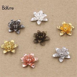 BoYuTe 50 Pezzi 7 colori 16 * Charms 5MM filigrana fiore Brass all'ingrosso materiali più caldi ultima annata fascini di DIY
