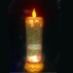 Quarto Decoração de Natal Wedding Candle lâmpadas USB LED recarregável luz da noite da vela Rotating Partido decorativa Barra de Ferramentas Home Decor