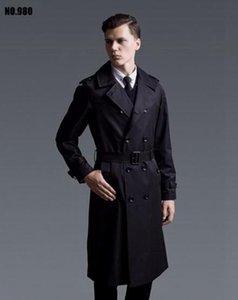 Мужская зимняя мода в Европе и модный бутик высокого класса с британским регланом, с длинными рукавами, большие ярды, длинное пальто / S-6XL