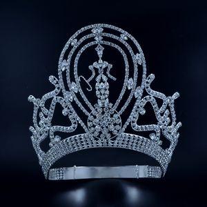 Pageant Couronnes Diadèmes Lager réglable du concours Miss gagnant reine de mariée mariage Princesse Bijoux de cheveux pour Prom Party Montre Coiffe Mo134