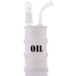 """Rampes à huile en verre bong TROIS TYPE OPTIONNEL Mini Drum Plate 14mm Bubbler Et Tuyaux D'eau En Verre Tall 6.6 """""""