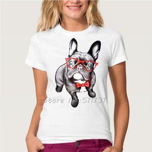 Wholesale-New Arrive 2016 Cute French Bulldog/Cute Cat/Panda PrintedT-Shirts Summer Casual Women/Girl Animal Cool Short Sleeve Tees Tops