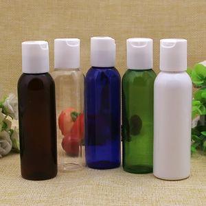 Оптовая 60 мл пустой прозрачный белый коричневый пластиковый лосьон бутылка, 60 мл пластиковый контейнер для косметики, многоразового пластиковая бутылка маленький