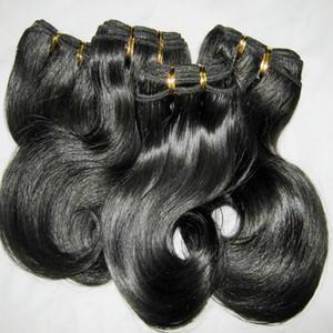 6pcs / lot courte armure 100% péruvienne traité cheveux humains 50G / pcs vague corps de trame couleurs sombres 8 « -20 » Réduction spéciale