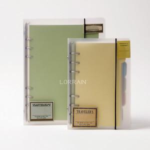 Wholesale-A5 / A6 Kunststoff Clip Datei Ordner klassischen transparenten einfachen Notebook Lose Blatt Ringbuch Tagebuch Planer Abdeckung Briefpapier