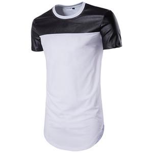 2019 de moda de cuero camisetas para hombre diseñador de la marca camisetas de manga corta del verano Pop T Shirt al por mayor