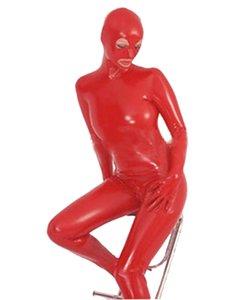 Women Shiny Metallic Zentai Catsuit Full Body Unitard Performance Halloween Cosplay Costume With Eyes Mouth Open Mask