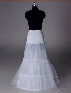 2017 Nueva Blanco Enagua 2 Aro 2 Capas Novia Vestido Formal Underskirt Crinolina Pequeño Fishtail Corset Accesorios de la boda
