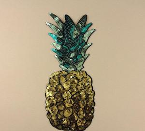Ferro Em Remendos DIY patch de lantejoulas adesivo Para roupas Roupas Emblemas de Tecido de Costura glitter brilhante abacaxi frutas etc