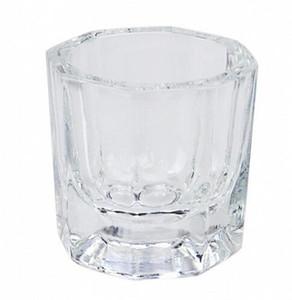 Verre Dappen Dish Nail Art Acrylique Liquide Titulaire Contenant Cristal Teinte Bol Équipement Nail Art