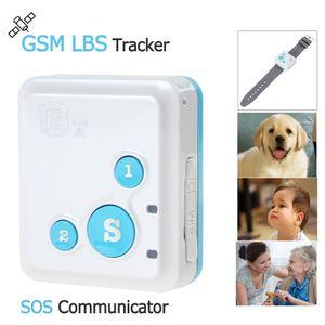 Alta calidad portátil RF-V18 GPS GSM LBS Tracker SOS Communicator con correa de reloj collar estilo cordón ACA_127