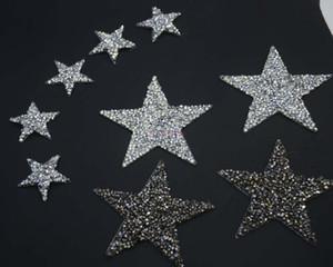 BlingBling Sternentwurfskristallhotfixrhinestone-Motive bügeln auf Übergangsrhinestonefleckenapplikation für Kleidungsschuh 10pcs / lot