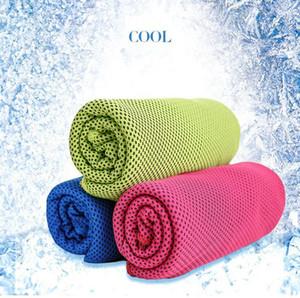 2017 Multicolor Ice Cool Toalhas Utility Enduring instantâneo de arrefecimento toalha Calor Relief reutilizável frio fresco Toalha Esporte fria toalha 30 * 90 centímetros