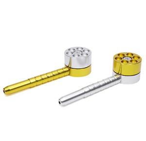 Nuevo color de golpe de personalidad de tubo de aleación de aluminio de 12 cm de largo revólver