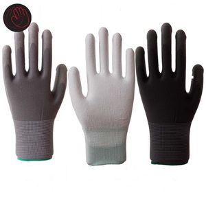 12 pair pu قفازات العمل قفازات النخيل المغلفة سلامة العمل مكان العمل السلامة ، قفازات السلامة guantes trabajo 24 قطع = 12 pair