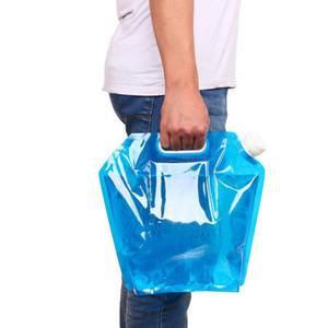 Récipient pour sac à eau portatif en plein air - 10L se pliant pour transporter le sac de seau transporteur d'eau pliable pour le camping en plein air, randonnée pique-nique barbecue