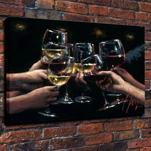 Enmarcado Fabián Pérez para una Mejor Vida IX, pintado a mano puro impresionismo arte pintura al óleo en papel grueso Canvas.Multi Tamaños envío Fp014
