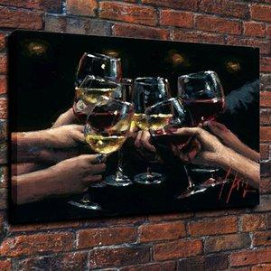 Лучше Толстые Fabian подставил For Life Free Hand Painted Импрессионизм Доставка Perez Картина на нефтяной Canvas.Multi IX, Pure Размеры Арт Fp014 Ukxh