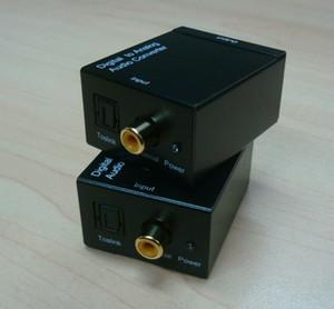 Freies verschiffen großhandel Digital Adaptador Optic Koaxial RCA Toslink Signal zu Analog Audio Konverter Adapterkabel
